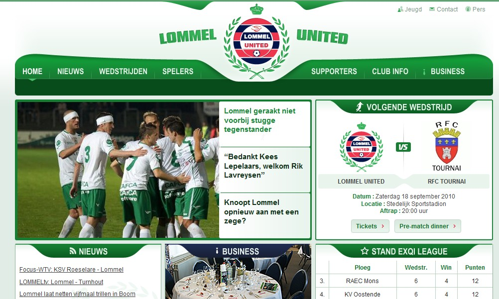 Lommel United Website